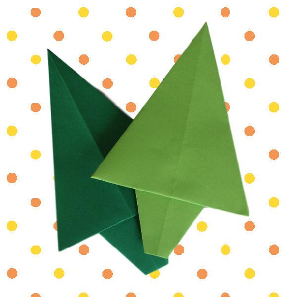 Knutselen Met Kerst Kerstboom Origami Website4mama Nl