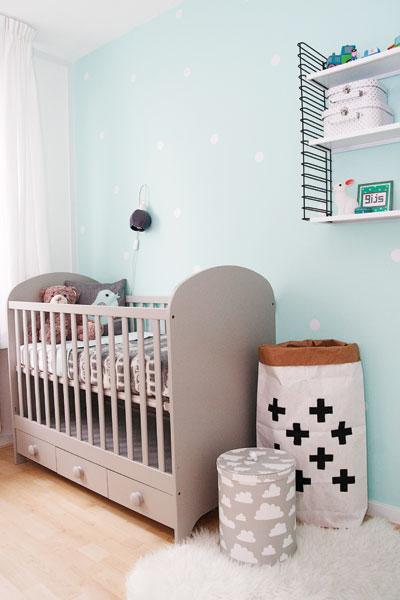 Lieve babykamer voor niet willen weters for Gordijnen babykamer mintgroen