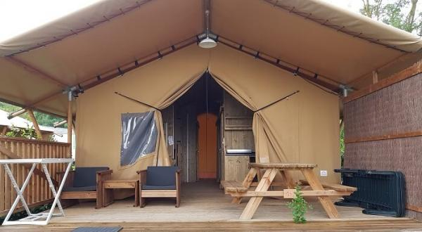 Glamping in Frankrijk: camping Lac de Thoux